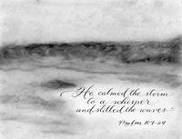Inspirational verse Stormy sea Psalm 107