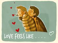 Love feels like .....