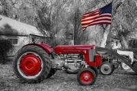 Massey -  Feaguson 65 Tractor with USA Flag BWSC