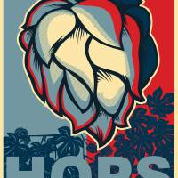 Hops in Red White and Blue Art Prints & Posters by Neal Wollenberg