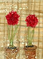 Red Potted Flowers