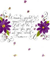 Inspirational handwritten faith verse for women