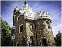 Gaudi's House in Parc Guell - Barcelona - Spain