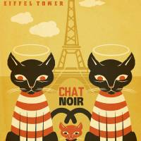 Paris Chat Art Prints & Posters by Matthew Laznicka
