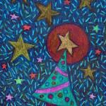 """Holiday-Christmas-tree-stars-drawing-BZTAT"" by bztat"