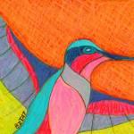 """Humming-bird-drawing-contemporary-BZTAT"" by bztat"