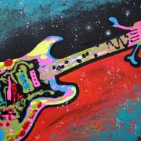 Space Guitar Art Prints & Posters by Laura Barbosa