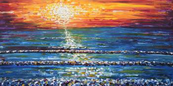 Sunset Ocean Painting