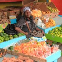 Woman selling produce, Nassau Bahamas Art Prints & Posters by Roupen Baker
