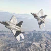 F-22 Raptors Art Prints & Posters by Jeff Stephenson