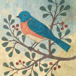 """Bluebird on Berry Branch"" by karynlewis"