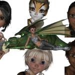 """1 Pixie Collage 8"" by NaturePlusStudios"