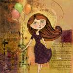 """Balloon Girl"" by karynlewis"