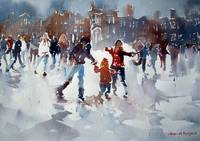 Ice Skaters At Hampton Court Palace London