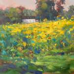 """Sunflower Field"" by amydonahuefineart"
