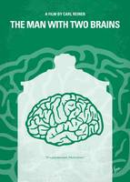 No390 My The Man With Two Brains minimal movie pos