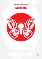 No391 My Mothra minimal movie poster