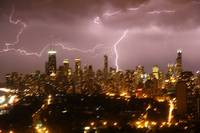 Chicago stormy night