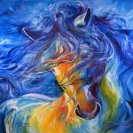 """LIKE THE WIND FRIESIAN"" by MBaldwinFineArt2006"