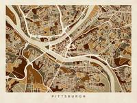 Pittsburgh Pennsylvania Street Map
