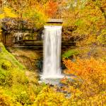 """Fall Colors at the Falls"" by GregLundgrenPhotography"