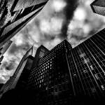 """Stormy NYC Skies BW"" by dantv"