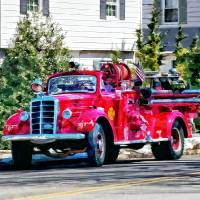 Old Fashioned Fire Truck Art Prints & Posters by Susan Savad
