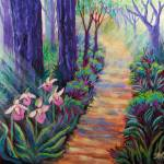 """Lady Slippers on the Path"" by SherylKaras"