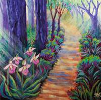 Lady Slippers on the Path