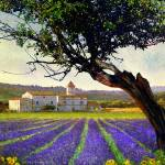 """bent tree and villa with lavender"" by rchristophervest"