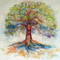 TREE OF LIFE HOPE Art Prints & Posters by Marcia Baldwin
