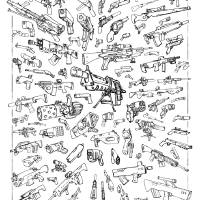 100 Guns Art Prints & Posters by Carlos NCT