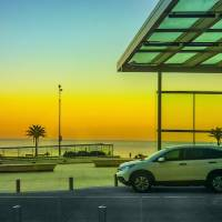 Front View of Carrasco Beach in Montevideo Art Prints & Posters by Daniel Ferreira-Leites