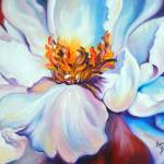 """PEONY on RED"" by MBaldwinFineArt2006"