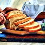 """Grandma Slicing Bread"" by susansartgallery"