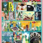 """Alphabet City - Complete - Pink"" by artchiz"