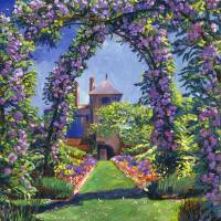 ENGLISH ROSE ARBOR Art Prints & Posters by David Lloyd Glover