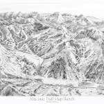 """Alta Utah 1991 Trail Map Sketch"" by jamesniehuesmaps"