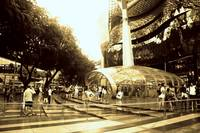 Orchard Road Singapore, monochrome