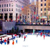 Rockefeller Center ice rink NYC Art Prints & Posters by Tom Jelen