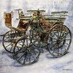 """1886 Daimler Motor Carriage"" by JoeyAgbayani"