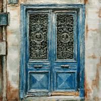 Parisian Door No.110 Art Prints & Posters by Joey Agbayani