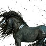 """White Feather Friesian"" by AmyLynBihrle"