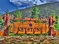 Keystone Colorado vibrant welcome sign print