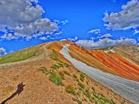 Red Cone Colorado vibrant scenic print
