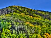 Vail Colorado vibrant mountain scenic print