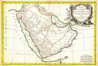 1771 Bonne Map of Arabia by Geographicus Arabia bo