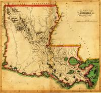 Antique Map of  Careys Map of Louisiana in 1814