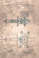 US350954-0 Nikola Tesla Patent Drawing From 1886 2