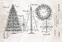 US1654427-0 Artifical Christmas Tree Patent From 1